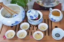 和为贵15件青花茶具组